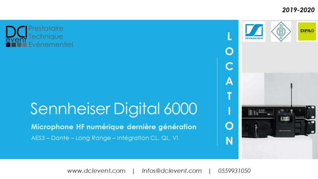 DCI Event location micro HF Sennheiser
