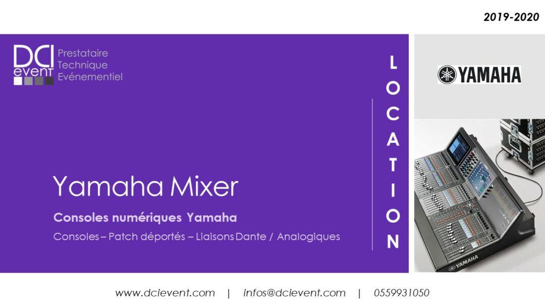 Location et vente console Yamaha numérique analogiques DCI Event