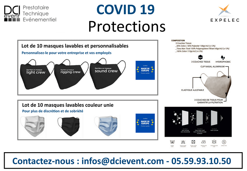 masque de protection anti projection DCI event
