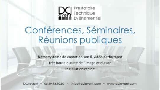 prestation son lumière vidéo conférence AG entreprise association DCI event
