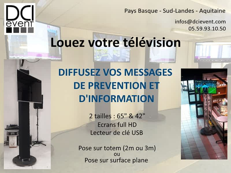 Télévision pour message préventif DCI event