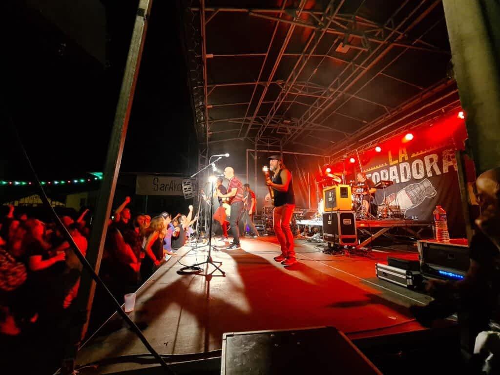 concert la topadora scène live