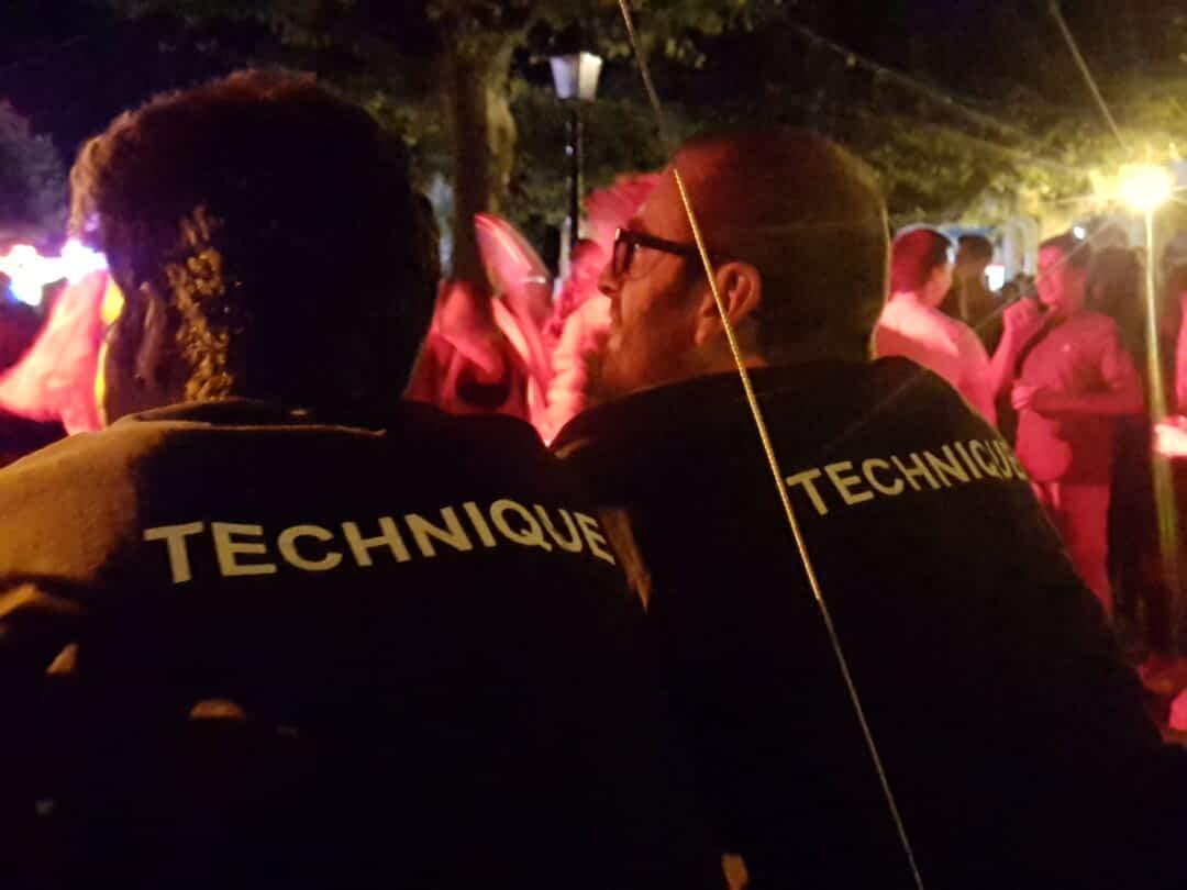 équipe technique techniciens DCI event
