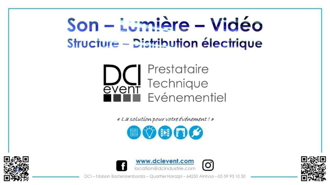 DCI Event catalogue location matériel audio vidéo éclairage