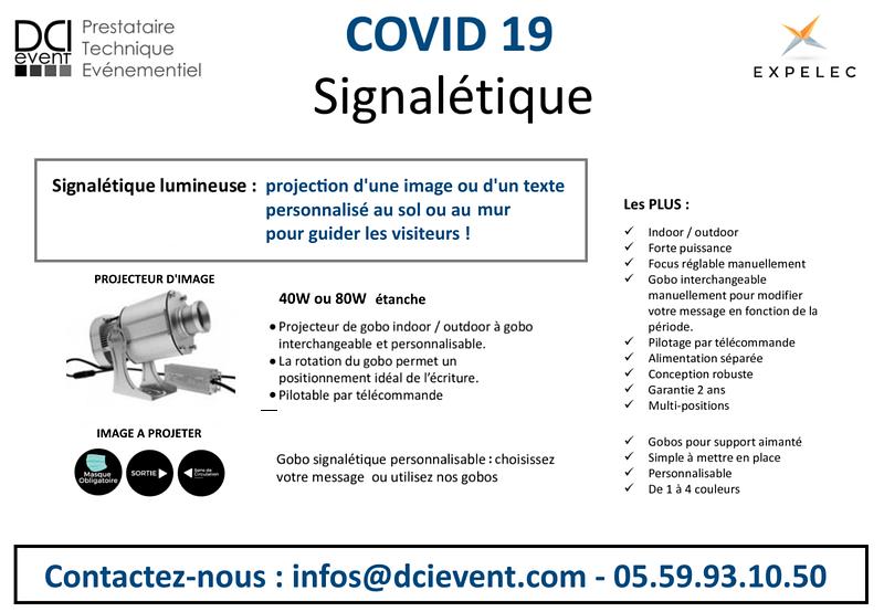 projecteur d'image fixe personnalisée DCI event